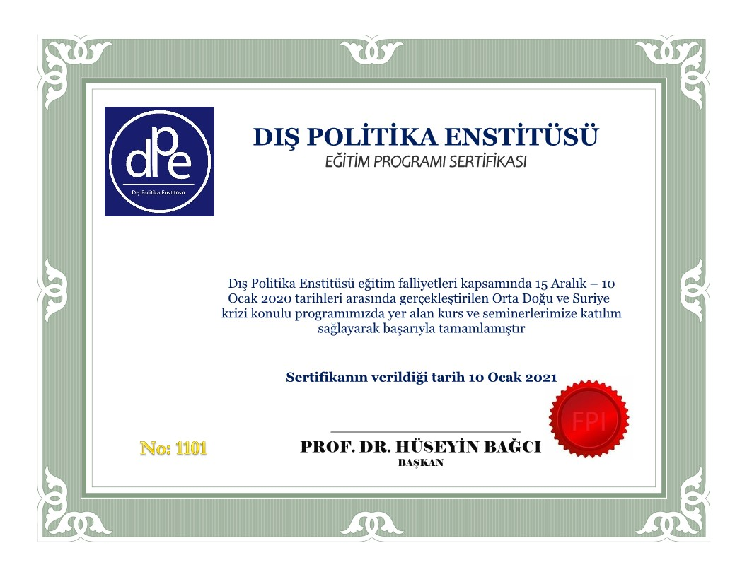 FPI CERTIFICATE PROGRAM